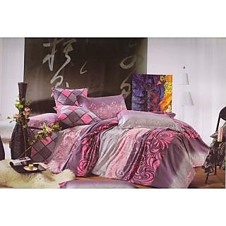 Valtellina 100% Cotton Abstract Design Double Bed sheet (FCA-012)