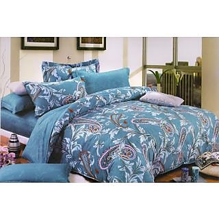 Valtellina 100% Cotton Traditional Design Double Bed Sheet (FCA-022)