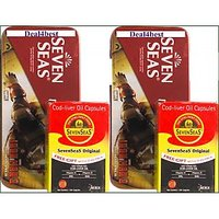 Combo Of 2 SevenSeaS Cod Liver Capsules (100 +100 Capsules, Free Two Geometry Boxes)