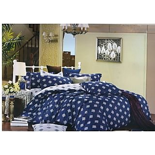 Valtellina 100% Cotton Traditional Design Double Bed Sheet (FCA-011)