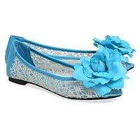 Follie Blue Peep Toes