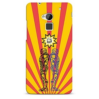 Snooky Digital Print Hard Back Case Cover For HTC One Max Yellow 21266