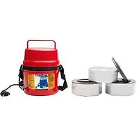 Power Plus Electric Microweavable 3 Containers Hot Lunch Box - H06R