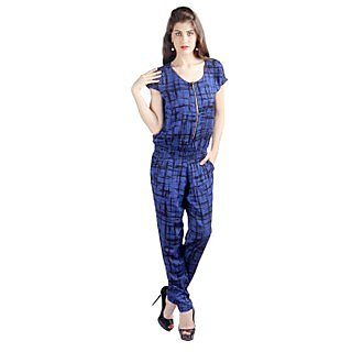 Vinegar Graphic Print Casual Jump Suit for Women_VAW4034