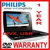Philips PD7030 Portable DVD Player, Pet, Divx, Usb+compact With Screen+lcd+mp3