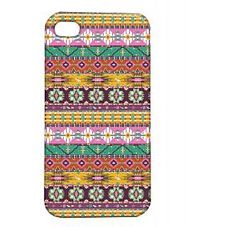 Pickpattern Back Cover For Apple Iphone 4/4S PINKMATRESSI4-1149