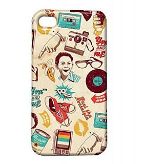 Pickpattern Back Cover For Apple Iphone 4/4S VINTAGEPICTUREI4-778