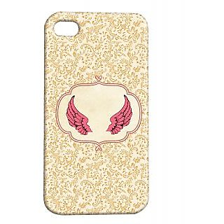 Pickpattern Back Cover For Apple Iphone 4/4S ANGELWINGSI4-1098