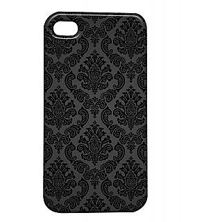 Pickpattern Back Cover For Apple Iphone 4/4S BLACKYBLACKI4-1002