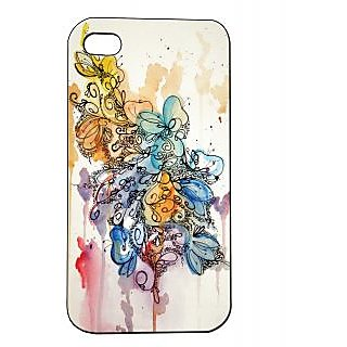 Pickpattern Back Cover For Apple Iphone 4/4S FLORALPAINTDESIGNI4-266