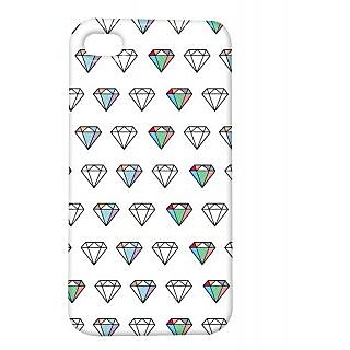 Pickpattern Back Cover For Apple Iphone 4/4S LIKEDIAMONDI4-426