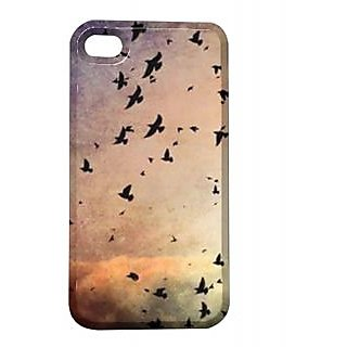 Pickpattern Back Cover For Apple Iphone 4/4S BLACKEAGLEI4-59