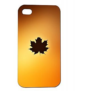 Pickpattern Back Cover For Apple Iphone 4/4S BROWNMARIJUANAI4-118