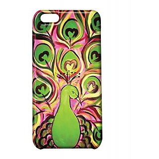 Pickpattern Back Cover For Apple Iphone 5C GLOWYPEACOCKI5C-1866