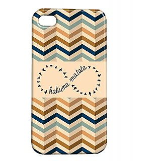Pickpattern Back Cover For Apple Iphone 4/4S HAKUNAMATATAI4-1115
