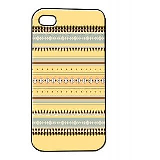 Pickpattern Back Cover For Apple Iphone 4/4S YELLOWAZTECHI4-836