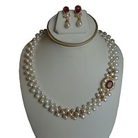 Side Red pendent patta set