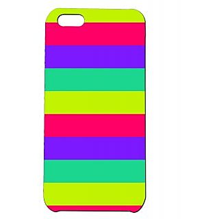 Pickpattern Back Cover For Apple Iphone 5C BRIGHTSTRIPI5C-1675