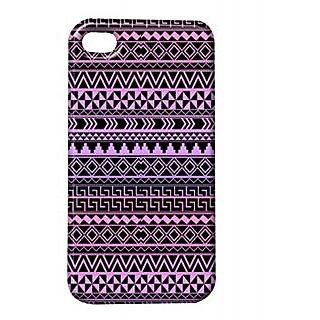 Pickpattern Back Cover For Apple Iphone 4/4S DARKVOILETI4-209