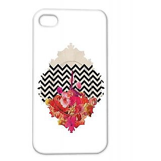 Pickpattern Back Cover For Apple Iphone 4/4S FLOWERCLOCKI4-1082