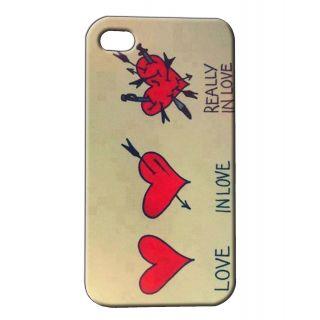 Pickpattern Back Cover For Apple Iphone 4/4S HEARTSTRINGSI4-348