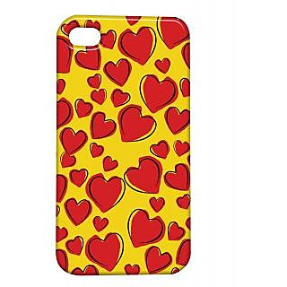 Pickpattern Back Cover For Apple Iphone 4/4S REDHEARTSDRAWINGSI4-642
