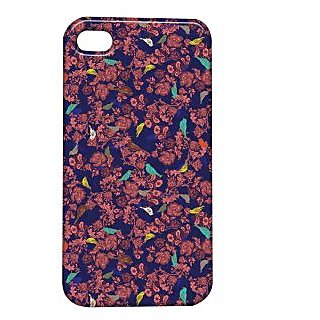 Pickpattern Back Cover For Apple Iphone 4/4S SPARROWI4-1128