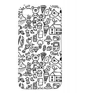 Pickpattern Back Cover For Apple Iphone 4/4S YES,AMTHECRAZYI4-849