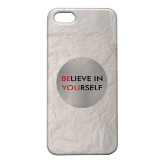 Pickpattern Back Cover For Apple Iphone 5/5S BELIEVEYOURSELFI5-1255