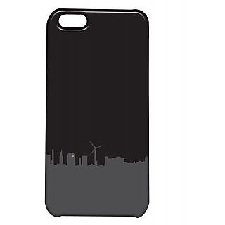 Pickpattern Back Cover For Apple Iphone 5C BLACKCITYI5C-1620