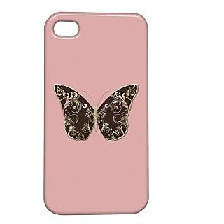 Pickpattern Back Cover For Apple Iphone 4/4S BUTTERFLYI4-937