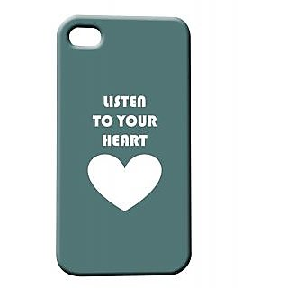 Pickpattern Back Cover For Apple Iphone 4/4S LISTENHEARTSI4-431