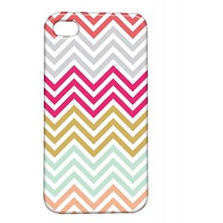 Pickpattern Back Cover For Apple Iphone 4/4S MULTICOLORZIGZAGI4-497