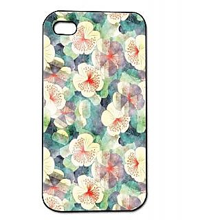 Pickpattern Back Cover For Apple Iphone 4/4S WHITEYFLOWERI4-814