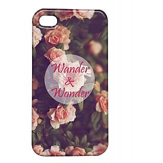 Pickpattern Back Cover For Apple Iphone 4/4S WONDERI4-963