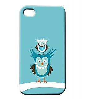 Pickpattern Back Cover For Apple Iphone 4/4S BLUEBIRDYI4-82