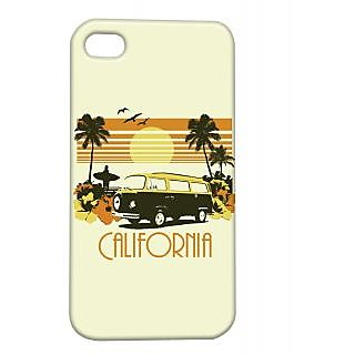 Pickpattern Back Cover For Apple Iphone 4/4S CALIFORNIAI4-877