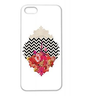 Pickpattern Back Cover For Apple Iphone 5/5S FLOWERCLOCKI5-1434