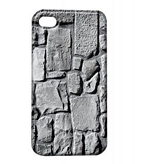 Pickpattern Back Cover For Apple Iphone 4/4S GREYWALLI4-334