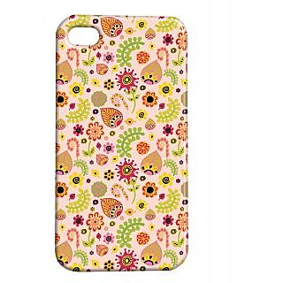Pickpattern Back Cover For Apple Iphone 4/4S LEAFYETHNICI4-1116
