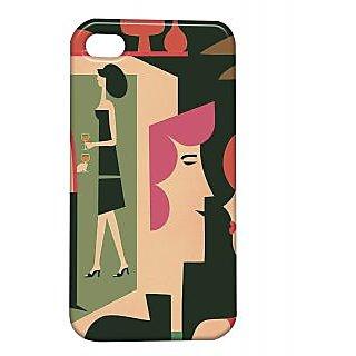 Pickpattern Back Cover For Apple Iphone 4/4S MOCKTAILI4-875