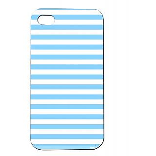 Pickpattern Back Cover For Apple Iphone 4/4S BLUESTRIPSI4-98
