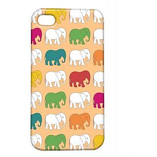 Pickpattern Back Cover For Apple Iphone 4/4S COLOURFULELEPHANTSI4-905