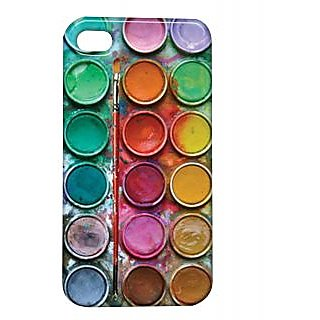 Pickpattern Back Cover For Apple Iphone 4/4S COLOURPALLETTEPAINTBRUSHI4-173
