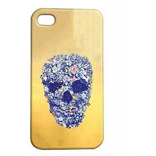 Pickpattern Back Cover For Apple Iphone 4/4S FLOWERYSKULLI4-1112