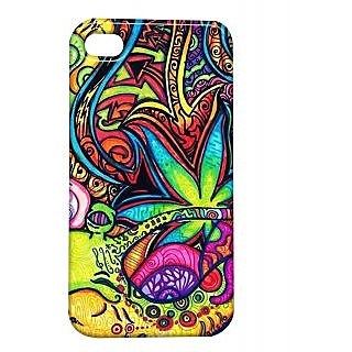 Pickpattern Back Cover For Apple Iphone 4/4S MULTICOLORPAINTI4-491
