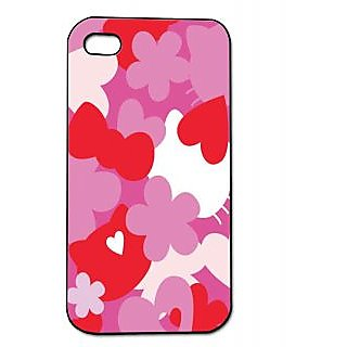 Pickpattern Back Cover For Apple Iphone 4/4S RED&WHITEI4-639