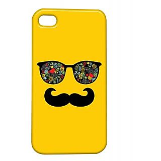 Pickpattern Back Cover For Apple Iphone 4/4S SEXYSPECSMOUSTACHEI4-667