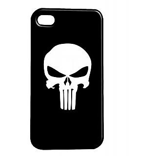 Pickpattern Back Cover For Apple Iphone 4/4S SKULLWHITEI4-699