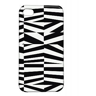 Pickpattern Back Cover For Apple Iphone 4/4S BLACK&WHITEVECTORI4-1159